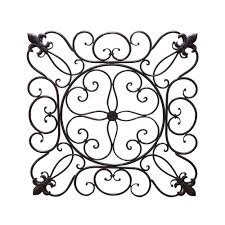 Square Metal Wall Decor 19 In X 19 In Square Metal Wall Decor Dn0003 The Home Depot