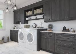 Natural Grey Shaker Pre-Assembled Laundry Room Cabinets