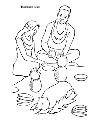 Small Picture Hawaiian Luau Coloring Pages Coloring Home
