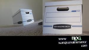 office file boxes. How To Assemble Bankers Box Put Together Office Storage File Boxes Video