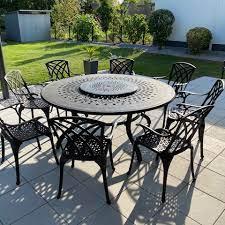amelia bronze 8 seater garden table set