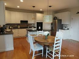 Brilliant Painting Cherry Kitchen Cabinets White Redo After Oak Inside Decorating Ideas