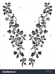 Floral Embroidery Designs Vector Design Vector Neck Line Fashion Embroidery Designs