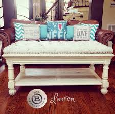 Painted And Tufted Coffee Table Or Ottoman Makeover. Replaced Glass Inserts  And Created A Luxurious