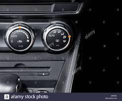 car air conditioner. stock photo - car air conditioner switch, temperature interior of modern