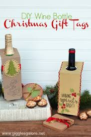 How To Decorate A Wine Bottle For Christmas DIY Christmas Wine Bottle Gift Tags 68