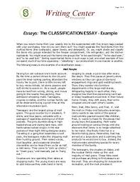 classification essay example co classification essay example