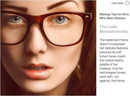 here s a slideshow of makeup strategies you might want to try with your eyewear