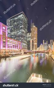 Light Bar For Boat Tower Busy Boat Tour Light Trail Chicago Stock Image Download Now