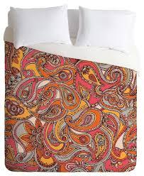 deny designs valentina ramos spring paisley duvet cover contemporary duvet covers and duvet sets by deny designs