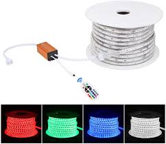 Led Mesh Rope Lights Brillihood Flexible Led Rgb Rope Light Strip Multi Color Changing Smd 5050 Leds 110 120v Ac Dimmable Waterproof Indoor Outdoor Rope Lighting
