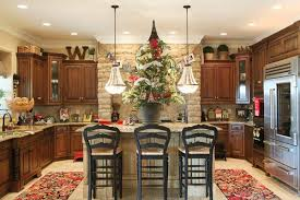 Simple Decorating Above Kitchen Cabinets Decorating Abovekitchen Cabinets  For Christmas