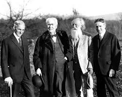 henry ford with thomas edison. Modren Ford Henry Ford Thomas Edison John Burroughs And Harvey Firestone 1921  With Ford Edison O