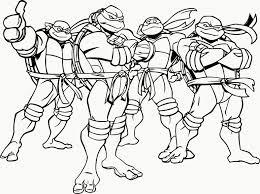 Teenage Mutant Ninja Turtles Coloring Pa Simple Free Pages Turtle