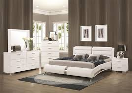 white king bedroom sets. Felicity 6 Piece Bedroom Set In Glossy White Finish By Coaster - 300345 King Sets O