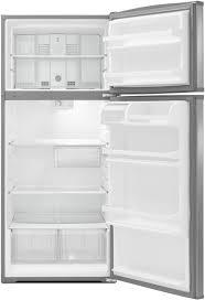 whirlpool refrigerator top freezer. whirlpool wrt316sfdw - front view open empty refrigerator top freezer 9
