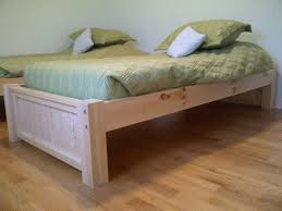 Queen Mattress Size Room Platform King Bed Dimensions Brown Build Your Own  Simple Platformuntreated Wooden Frame ...