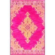 cool pink and orange rug medallion area