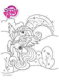 Coloriage My Little Pony Princesse Celestia