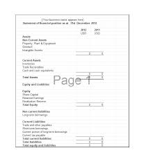 Personal Assets And Liabilities Statement Template Excel Net Worth Template Financial Statements Word Assets And