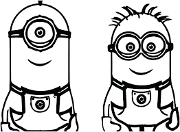Bob The Minion Coloring Pages Minions Colouring Pages Free Minions