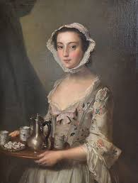 best s fashion images th century th   girl a tray 1750 by philip mercier british