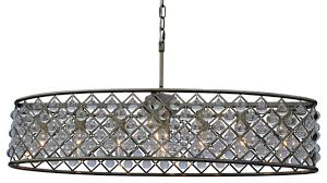30 cassiel oval crystal drop chandelier antique brass