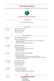 Senior Computer Engineer Resume samples