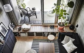 ikea furniture for small spaces. A Grey And Black Living Room With Patio French Windows. Ikea Furniture For Small Spaces