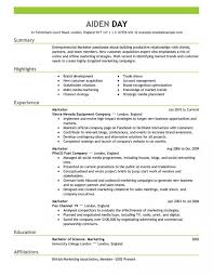 New Marketing Resume Templates 21 On Sample Of With All Best Cv