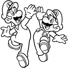 Luigi And Mario Mario Bros Kids Coloring Pages