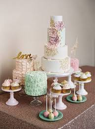 25 Inspiring Wedding Cake And Dessert Tables Onefabdaycom