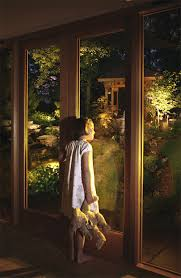 looking out door. Oxford Garden Lighting - Girl Looking Out Over And Artistically Lit Using LED Lights Door
