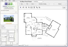 Architecture, The Amazing New England Floor Plans Photography Blue Pond  Road File Edit Share Screenshot