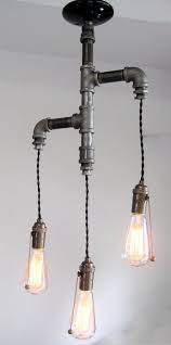 diy pipe lighting. the original industrial edison tiered trio pipe chandelier 39900 via etsy diy lighting