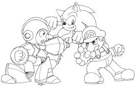 Mario And Sonic Coloring Pages And Sonic Coloring Pages To Print For