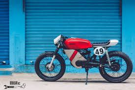 yamaha rx100 cafe racer modified in hyderabad modifiedx