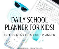 free school planner printables 2019 2020 daily school planner for kids with free printables