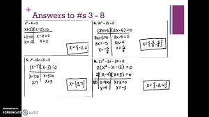 algebra 2 chapter 4 factoring quadratic equations