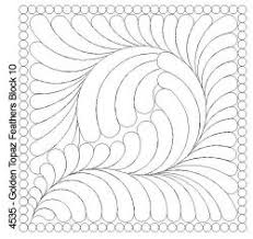 248 best Quilting -- feathers images on Pinterest | Book, Crafts ... & Golden Topaz Feathers Block 10 · Quilting StencilsHand ... Adamdwight.com