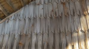 Front View Of The Wooden Shingles Of The House Stock Video Footage    VideoBlocks