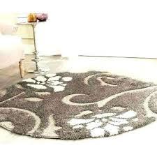 3 ft round rug 4 foot area rugs dark brown the home depot smoke jute