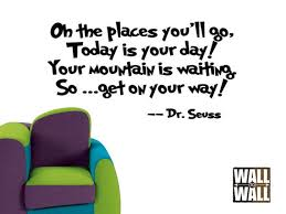 Dr Seuss Oh The Places You Ll Go Quotes Inspiration Dr Seuss Oh The Places You48ll Go Vinyl Wall Decal Quote Four