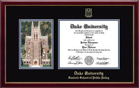 duke university campus scene diploma frame in gallery item  duke university diploma frame