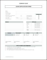 Application Forms Sample Leave Application Form Template