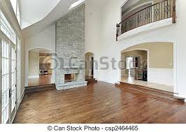 Image Result For Two Story Great Room With Rustic Beams  Living Two Story Fireplace