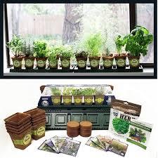 outdoor herb garden kit. Wonderful Kit Windowsill Herb Garden Kit Complete 10 Variety Non GMO Throughout Outdoor Kit
