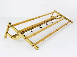Brass Coat Racks A Beautiful MidCentury Brass Bamboo Coat Rack with Hooks Austria 10