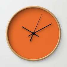 wall clocks orange wall clocks clock