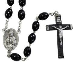 black wooden rosary x 31 0553
